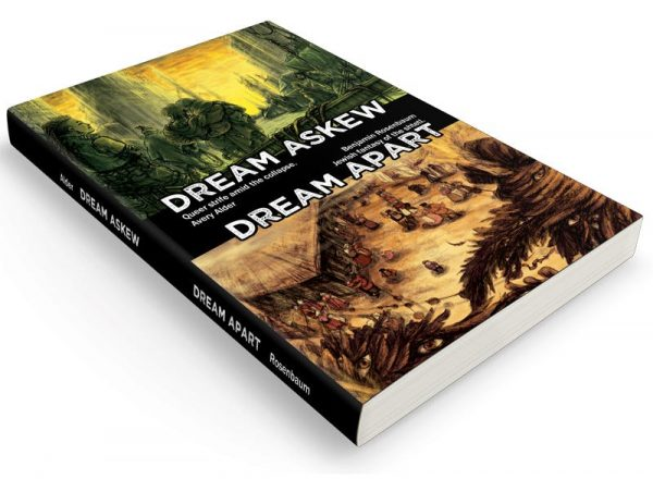 A picture of a softcover book of both Dream Askew and Dream Apart.